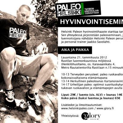 Paleoseminaari Helsingissä 21.1.2012