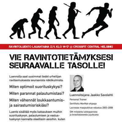 Urheilijan ravitsemusluento Helsingissä 22.9.2012