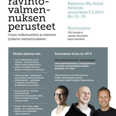 Toimivan ravintovalmennuksen perusteet -seminaari Helsingissä 3.5.2014