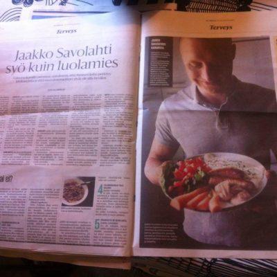 Paleoaiheinen juttu Helsingin Sanomissa 12.6.2014