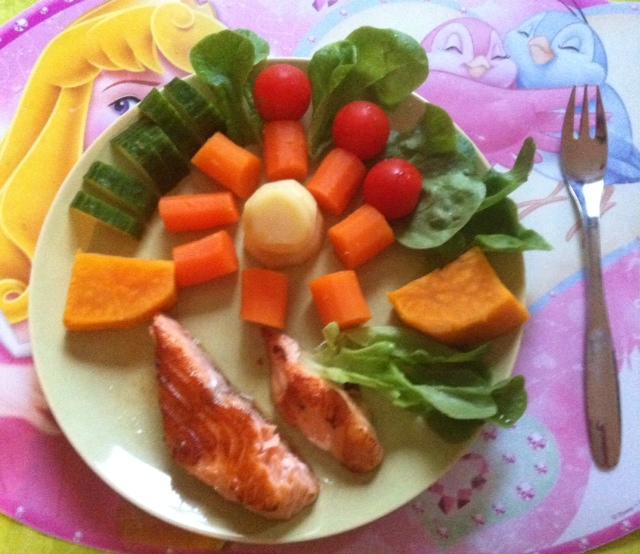 Dinner: kalaa & kasviksia